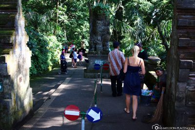 The entrance to sacred monkey forest