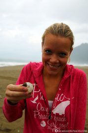 An intact turtle egg