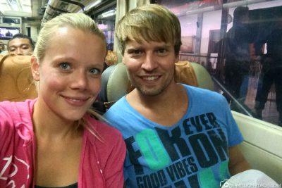 Our train ride to Surabaya