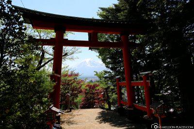 Das japanische Eingangstor Torri
