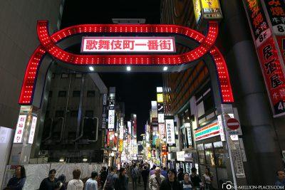 Das Vergnügungsviertel Kabukicho