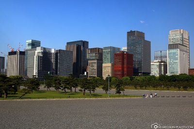 View from the Imperial Palace towards Chiyoda