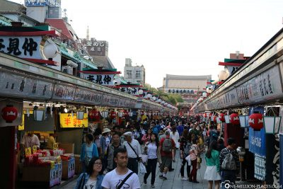 The market street in Asakusa