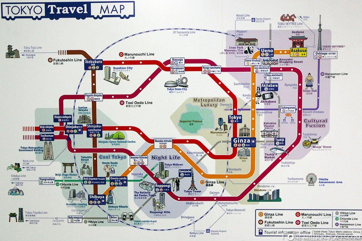 Map, Map, Tokyo, Japan, Attractions, Own, City Tour, Travelreport