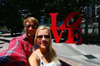 LOVE sculpture in Tokyo