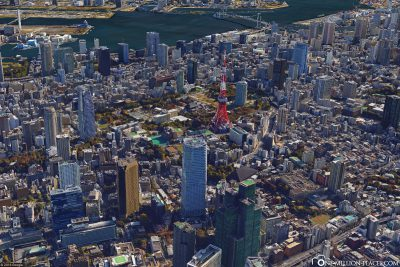 The Tokyo Tower in Google Earth