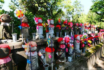 Jizo statues at the temple