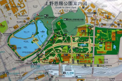A map of Ueno Park