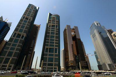 Die Skyline von Doha