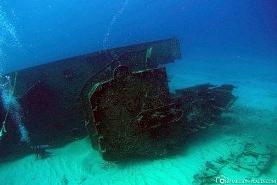 Das Schiffswrack C-58 General Anaya