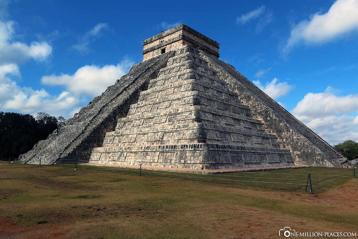 Stufenpyramide, Kukulcán, Chichen Itza, Mayastätte, Ruine, Halbinsel Yucatan, Mexiko, Auf eigene Faust, Reisebericht