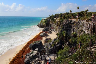 The Mayan site on the beach