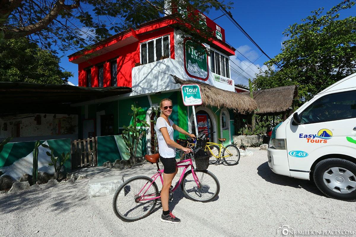 Bicycle, Tulum, Yucatan Peninsula, Maya Site, Ruins, Mexico, On Your Own, Travelreport