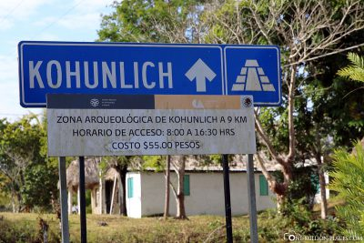 The road to Kohunlich