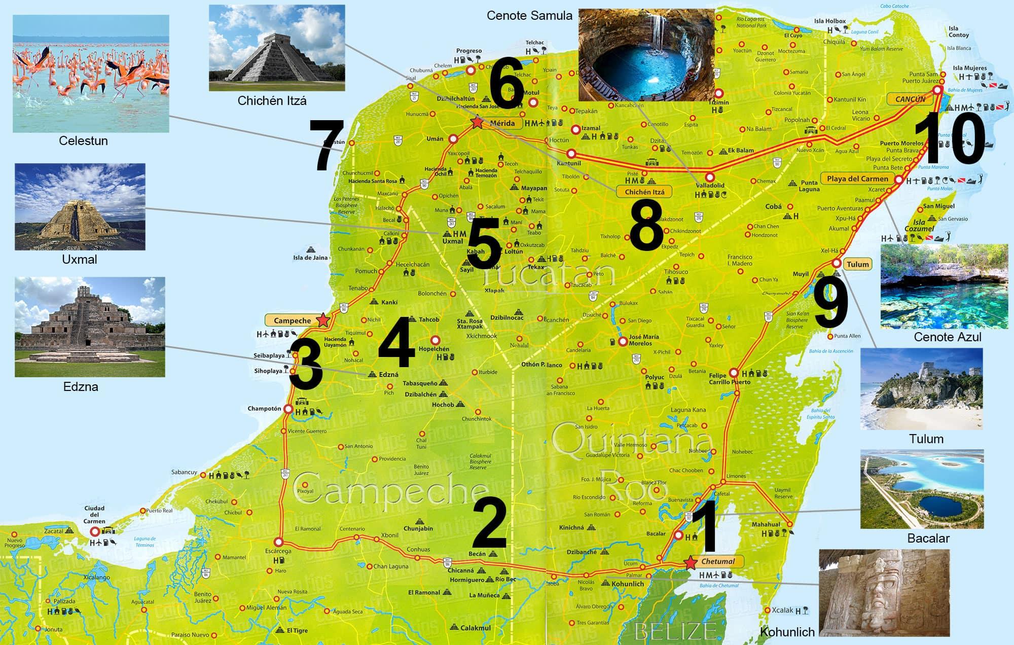 Yucatan, Mexiko, Rundreise, Mietwagen, Auf eigene Faust, Reisebericht