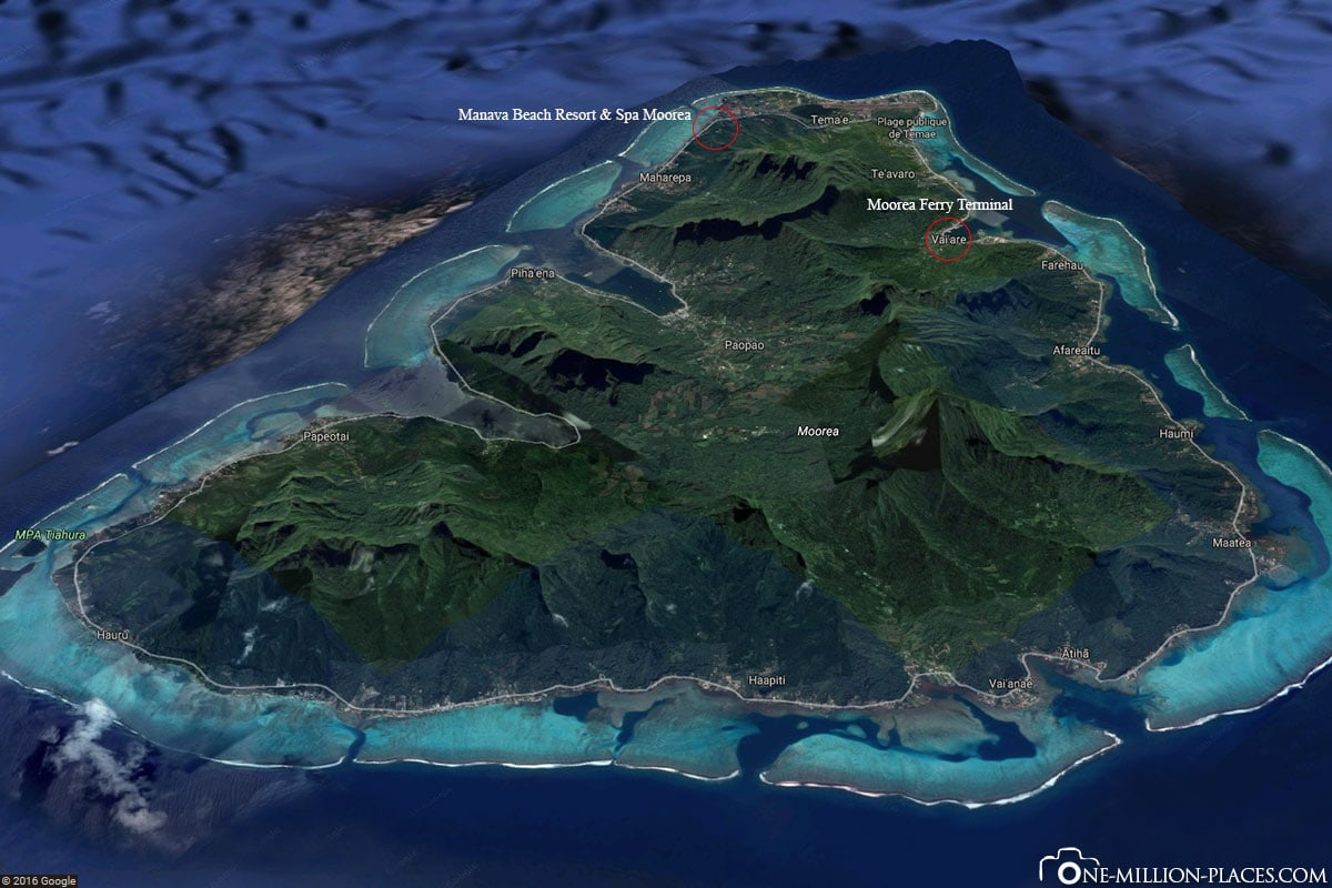 Island, Moorea, Google Maps, French Polynesia, South Seas, Travel Report