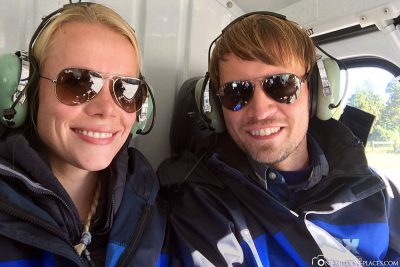 By helicopter to the glacier