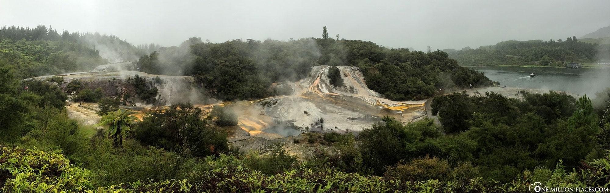 Panorama, Orakei Korako, Neuseeland, Geothermalregion, Auf eigene Faust, Reisebericht