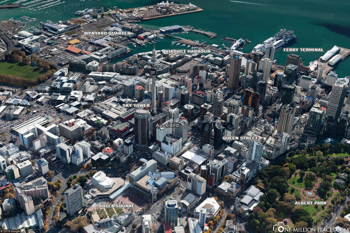 Downtown Auckland, Attractions, Photo spots, New Zealand, On Your Own, Travelreport