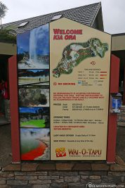 Information board at the visitor centre