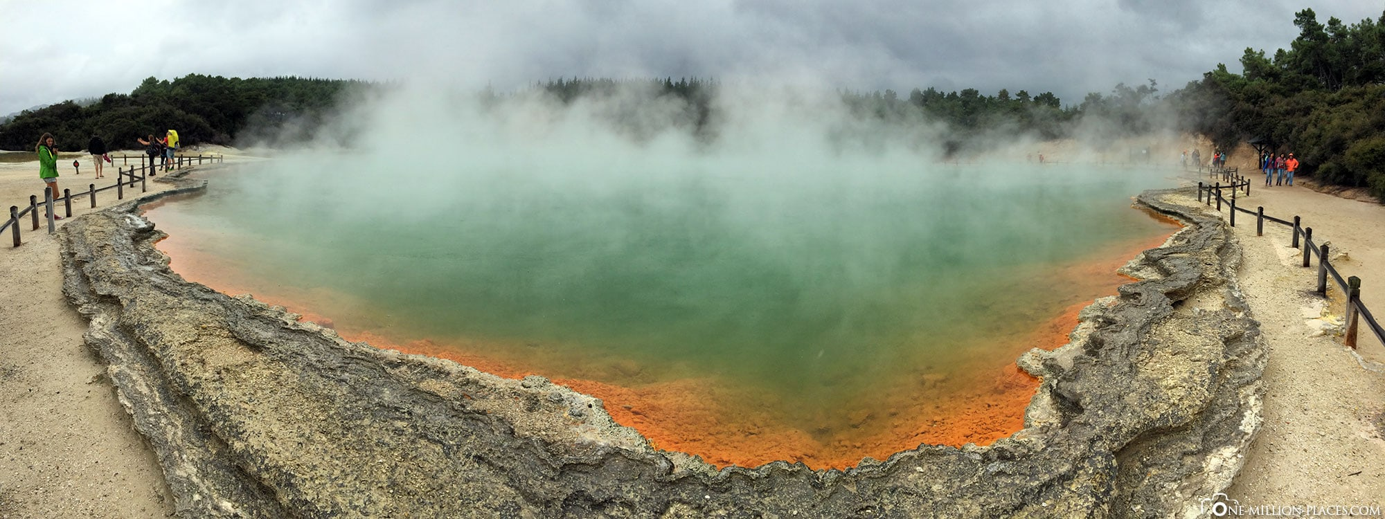 Panorama, Wai-O-Tapu, Waiotapu, New Zealand, Geothermal Region, Waikato Region, On Your Own, Travelreport