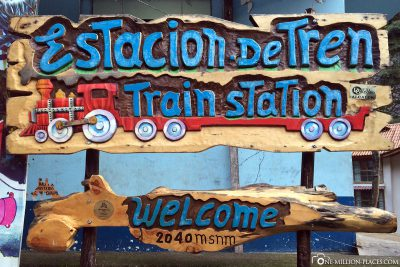 Der Bahnhof in Aguas Calientes