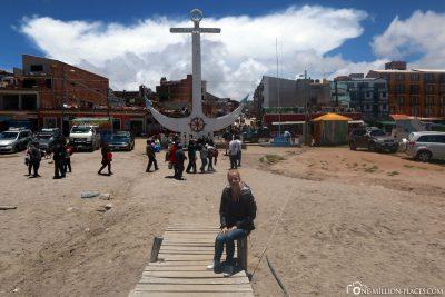 Die Hafen der Stadt Copacabana