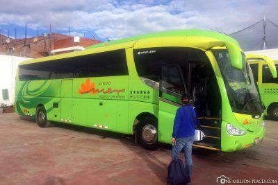 Start der Bustour in Puno