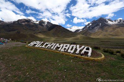 Der Berg Apu Chimboya