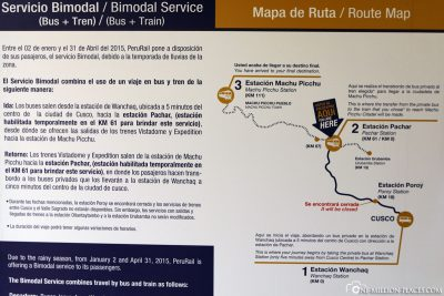 Information about the train route