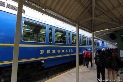 Der Zug von Perurail nach Machu Picchu