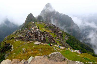 The Inca town of Machu Picchu