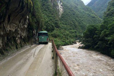 The road at Rio Urubamba