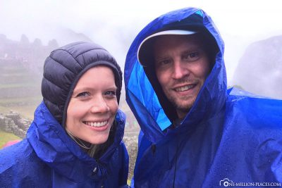 Packed in rain capes