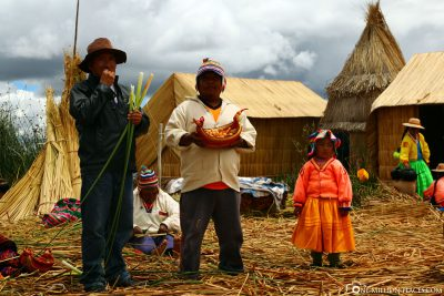 The Uros people in Peru