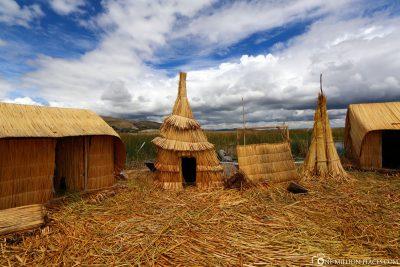 Die Hütten der Uros