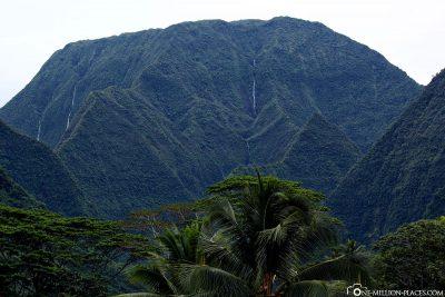 Die Berge von Tahiti