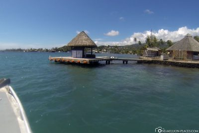 The jetty of the diving centre