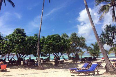 Der Strand am Hotel