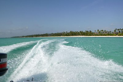 On the road with the speedboat