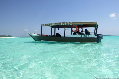 Short stop in a lagoon