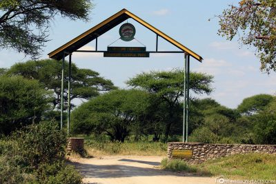 The main entrance of tangire national park