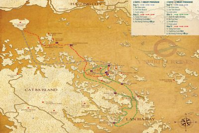 The route of our Halong Cruise