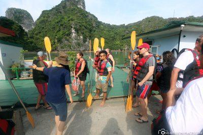Distribution of kayaks