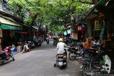 The streets of Hanoi's Old Quarter