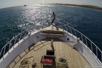 Boat trip to spot Shaab Marsa Alam