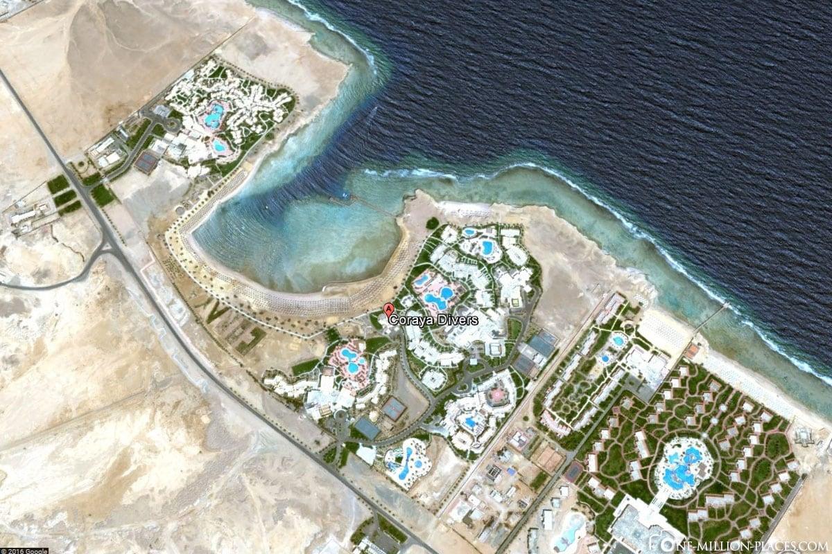 Karte, Coryaya Divers, Tauchschule, Marsa Alam, Ägypten, Reisebericht