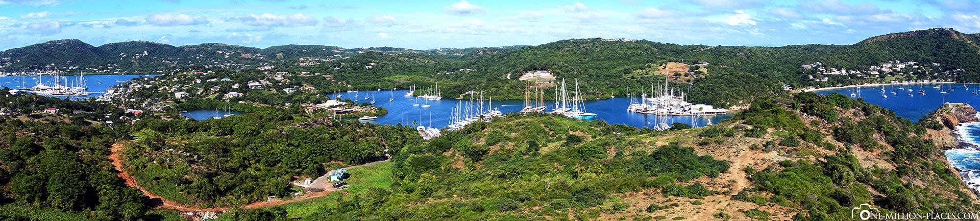 Panoramabild, Middle Ground Trail , Antigua, St. John's, Karibik, Welterbe, Sehenswürdigkeiten, Auf eigene Faust, Reisebericht