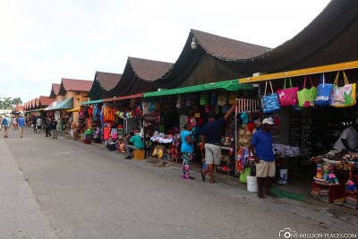 Market stalls on the seafront promenade