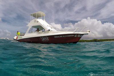 The dive ship of Jads Aruba